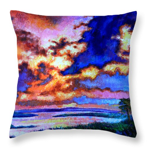 Florida Throw Pillow featuring the painting Dreaming Of The Warmer State by John Lautermilch