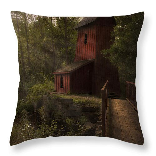 Sheave Tower Throw Pillow featuring the photograph Dreamkeepers Hideaway by Robin Webster