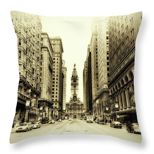 Philadelphia Throw Pillow featuring the photograph Dreamy Philadelphia by Bill Cannon