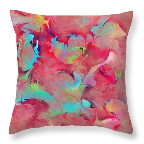 Dreams Throw Pillow featuring the digital art Dreamyland by Rachel Christine Nowicki