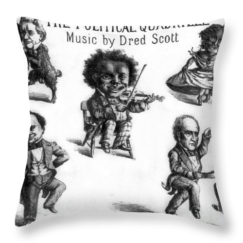 History Throw Pillow featuring the photograph Dred Scott & The 1860 Presidential Race by Photo Researchers
