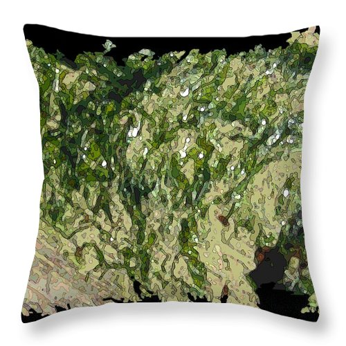 Driftwood Throw Pillow featuring the digital art Driftwood Study 3 by Tim Allen