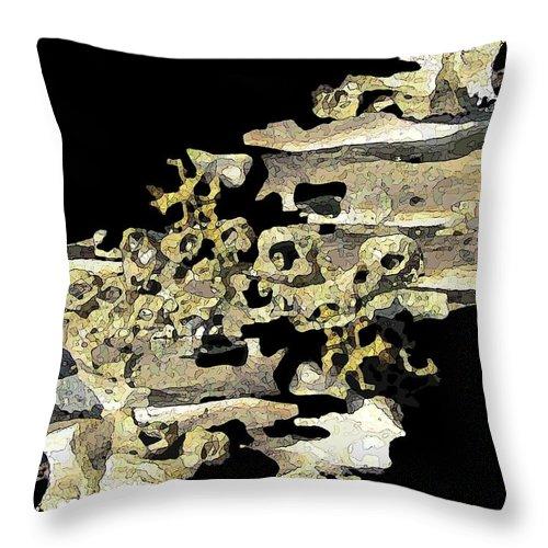 Driftwood Throw Pillow featuring the digital art Driftwood Study 4 by Tim Allen