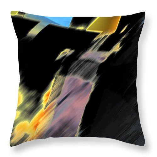 Black Throw Pillow featuring the photograph Drive By Abstract by Ric Bascobert