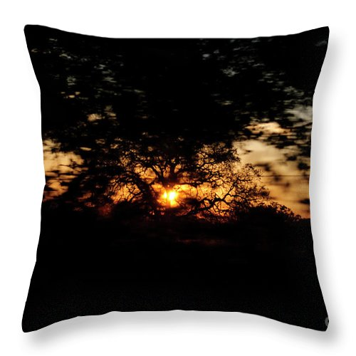 Sunset Throw Pillow featuring the photograph Drive By Sunset by Diego Re