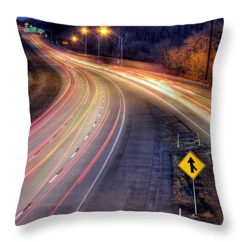 Night Throw Pillow featuring the photograph Drive by Lori Deiter