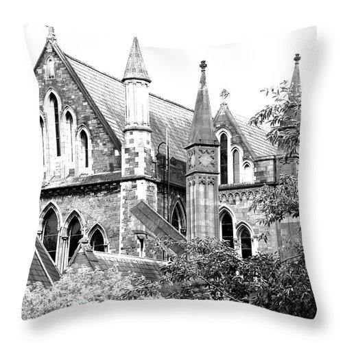Church Throw Pillow featuring the photograph Dublin Church by David Resnikoff