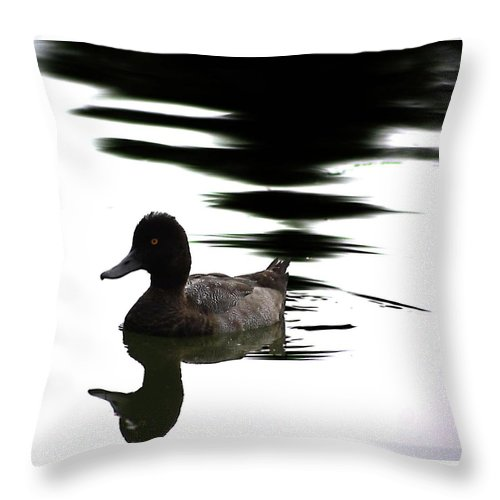 Abstract Throw Pillow featuring the photograph Duck Duck Goose by The Artist Project