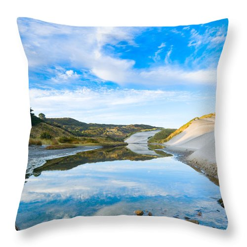 Abandoned Throw Pillow featuring the photograph Dunes At The Beach Side During Morning by U Schade