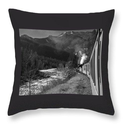 Durango Throw Pillow featuring the photograph Durango Silverton 2 by Ernie Echols