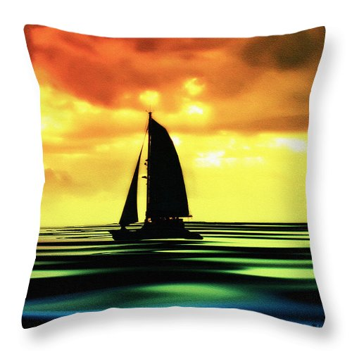 Sail Throw Pillow featuring the photograph Dusk by Bill Cannon