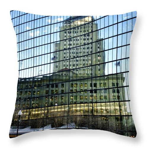 Art Throw Pillow featuring the photograph Dusk Reflections by Greg Fortier