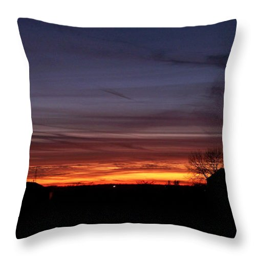 Color Photography Throw Pillow featuring the photograph Dusk by Sue Stefanowicz