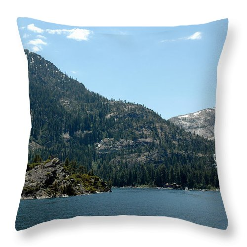 Usa Throw Pillow featuring the photograph Eagle Falls In Emerald Bay by LeeAnn McLaneGoetz McLaneGoetzStudioLLCcom