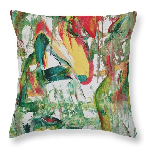 Abstract Throw Pillow featuring the painting Earth Crisis by Ikahl Beckford