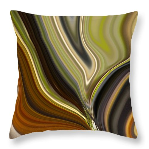 Abstract Throw Pillow featuring the painting Earth Tones by Renate Nadi Wesley