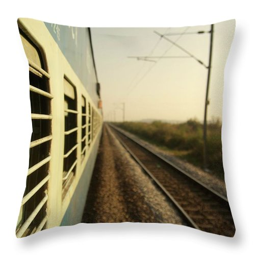 Trains Throw Pillow featuring the photograph Eastbound by Valerie Rosen