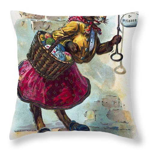 19th Century Throw Pillow featuring the photograph Easter Card by Granger