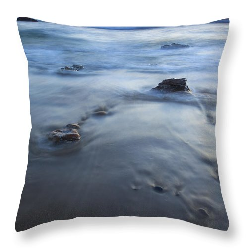 Seal Rock Throw Pillow featuring the photograph Ebb Stones by Mike Dawson