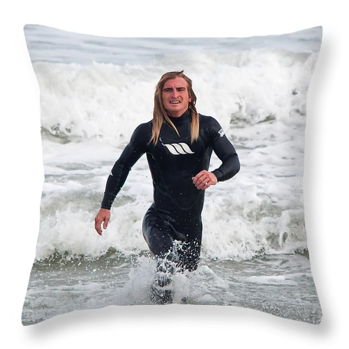 Surfer Throw Pillow featuring the photograph Echoes Of Baywatch by Kenneth Albin