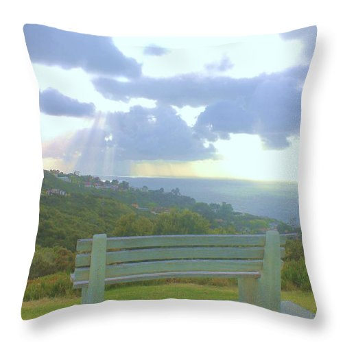 Spiritual Throw Pillow featuring the photograph Edge Of Glory by Caroline Lomeli