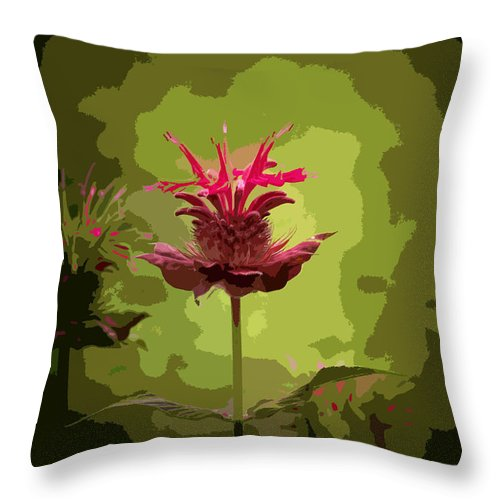 Flower Throw Pillow featuring the photograph Editing With One Eye Open by Trish Tritz