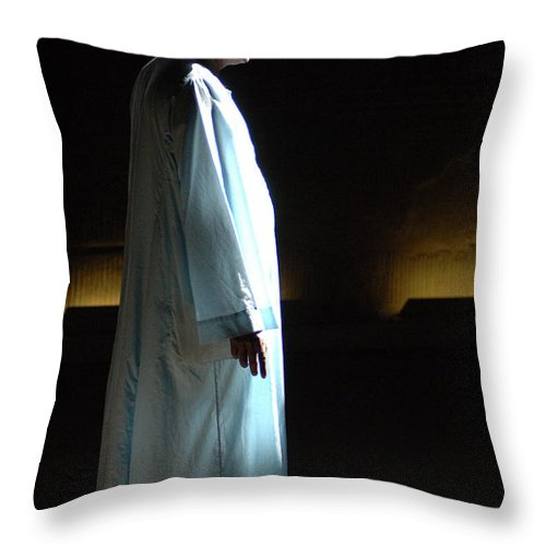 Temple Throw Pillow featuring the photograph Egyptian Portrait 1 by Bob Christopher