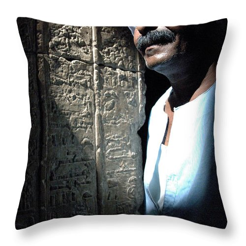 Temple Throw Pillow featuring the photograph Egyptian Portrait 2 by Bob Christopher