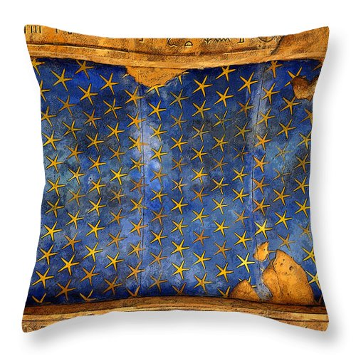 Art Throw Pillow featuring the painting Egyption Night Sky by David Lee Thompson
