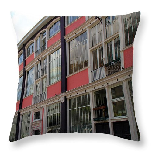 Paris Throw Pillow featuring the photograph Eiffel Artists Studios by Andrew Fare