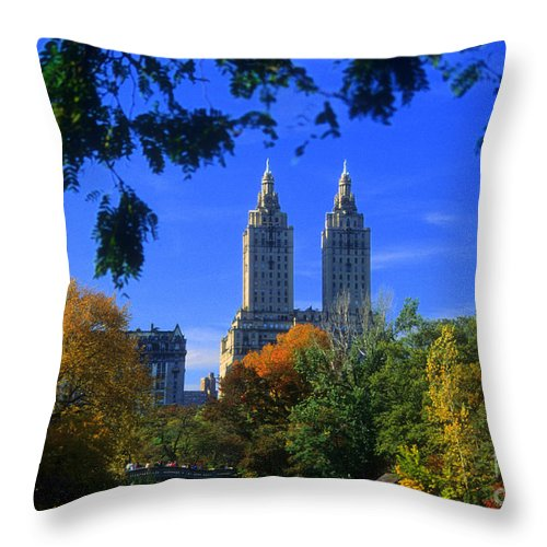 Central Park Throw Pillow featuring the photograph San Remo Central Park West by Mark Gilman