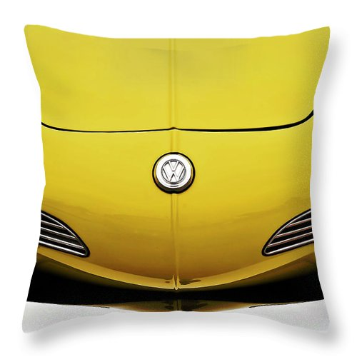 Volkswagen Throw Pillow featuring the digital art Electric Karmann by Douglas Pittman