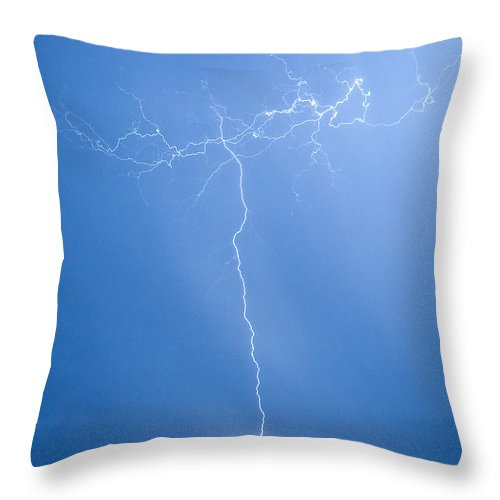 Lightning Throw Pillow featuring the photograph Electric Night by Stephen Whalen