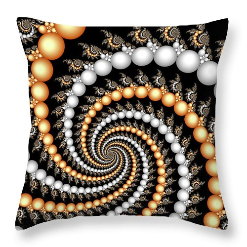 Abstract Throw Pillow featuring the digital art Elegant Swirls by Carolyn Marshall