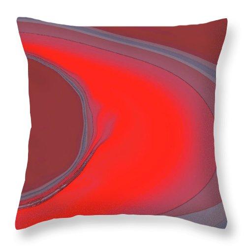 Modern Throw Pillow featuring the digital art Elliptic by ME Kozdron