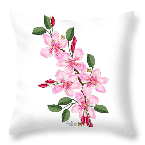 Anne Norskog Throw Pillow featuring the painting Elusive by Anne Norskog