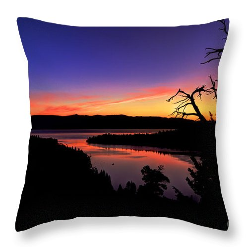 Emerald Bay Throw Pillow featuring the photograph Emerald Bay Morning by Merrill Beck