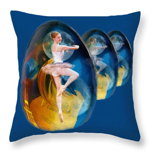 Ballet Throw Pillow featuring the photograph Emergentia by Delores Knowles