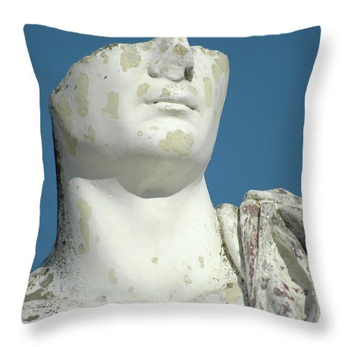 Europe Throw Pillow featuring the photograph Emperor's Bust by Mary Lane