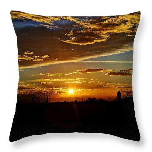 Sunset Throw Pillow featuring the photograph Enchantment by Saija Lehtonen