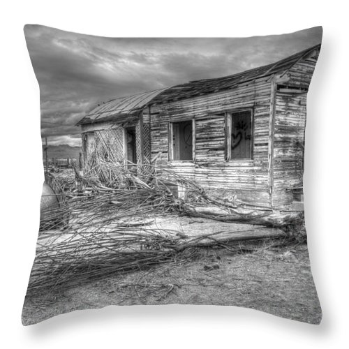 Dreams Throw Pillow featuring the photograph The End by Bob Christopher