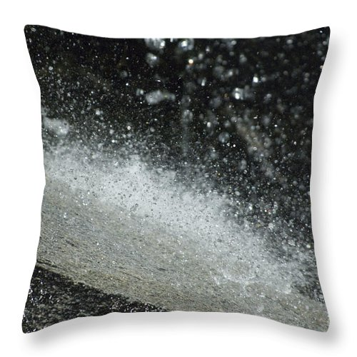 Water Throw Pillow featuring the photograph End Of The Waterfall by Sandra Bronstein