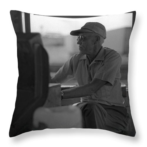 Railroad Throw Pillow featuring the photograph Engineer by Murray Bloom