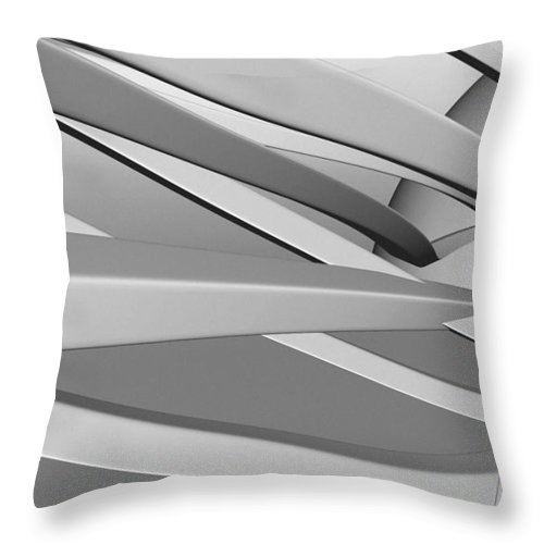 Entanglement Throw Pillow featuring the digital art Entangled Thoughts by Richard Rizzo