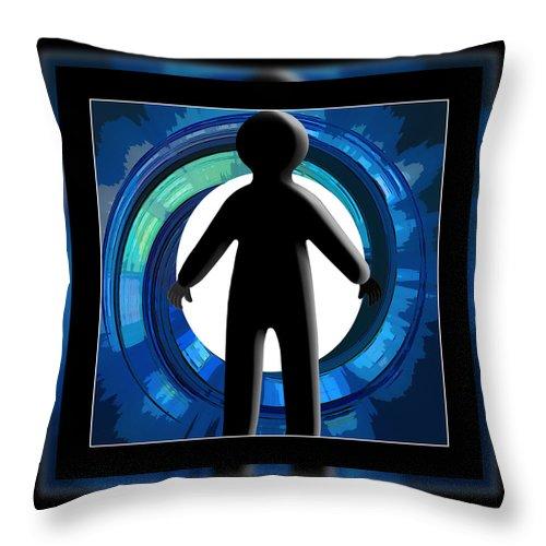 Silhouette Throw Pillow featuring the digital art Entering by Susan Leggett
