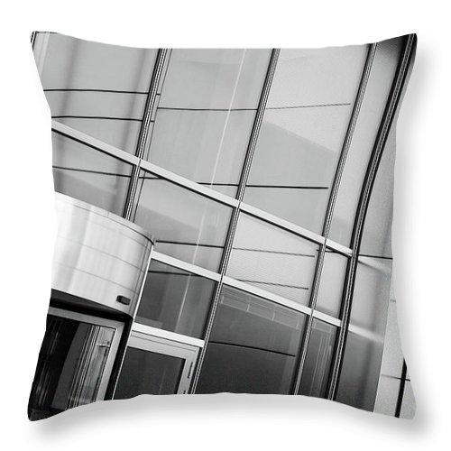 Cityscape Throw Pillow featuring the photograph Entrance by Dariusz Gudowicz