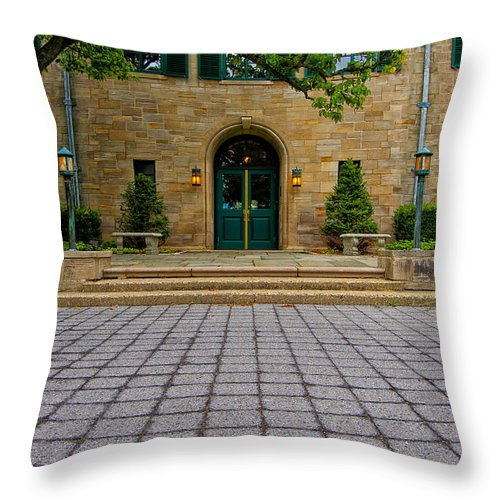 Entrance Squared Throw Pillow featuring the photograph Entrance Squared by Rachel Cohen