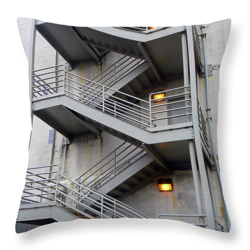 Vertical Throw Pillow featuring the photograph Escape Into The Grey by Pamela Patch