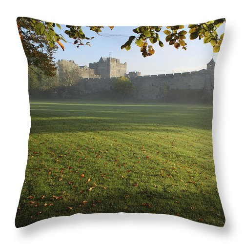Autumn Throw Pillow featuring the photograph Estate Of Cahir Castle Cahir, County by Trish Punch