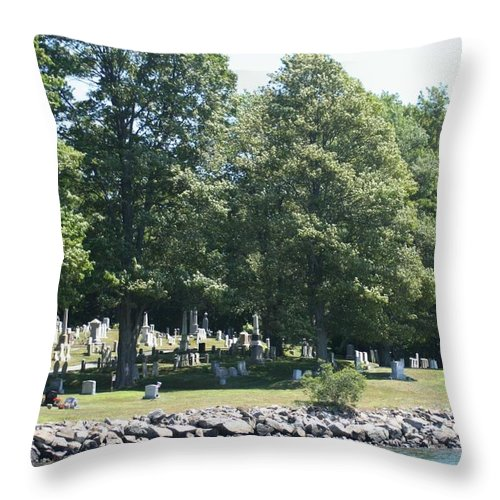 Photography Throw Pillow featuring the photograph Eternal Waterfront Property by Barbara S Nickerson